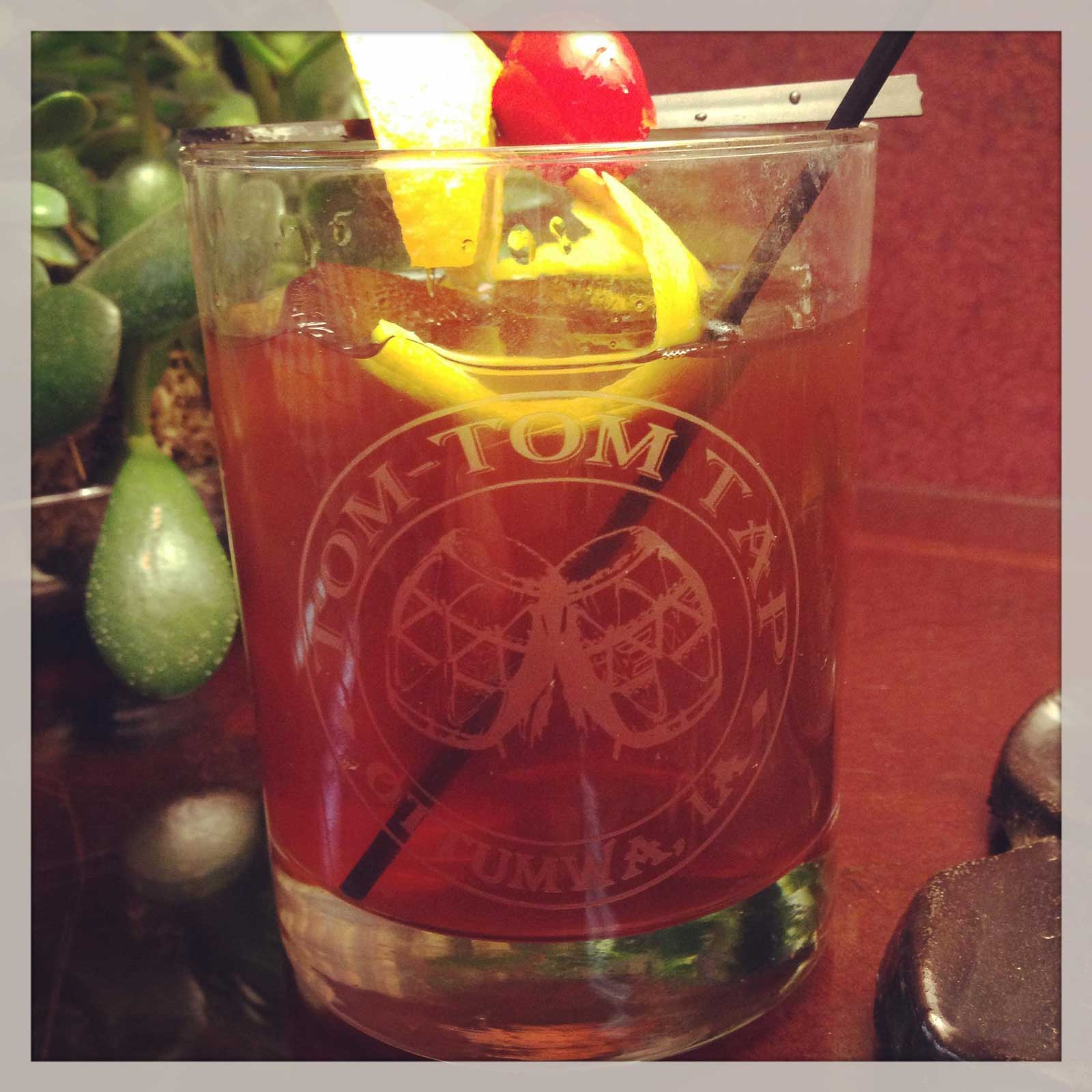 Tom-Tom Tap Old Fashioned Cocatil in a Glass